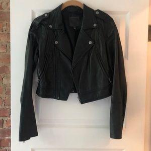 Joi cropped leather jacket